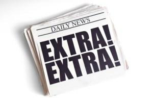Daily News. Extra! Extra! headline