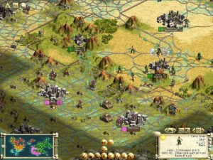 Civilization III video game game board screen shot