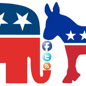 GOP Elefant, Democrat Doney, Social Media Logos