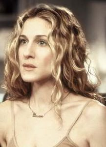 Sara Jessica Parker as Carrie on Sex and the City wearing the Carrie necklace.  An exmaple of personal branding.