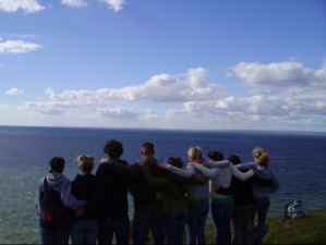 Group on Gower Peninsula in Wales