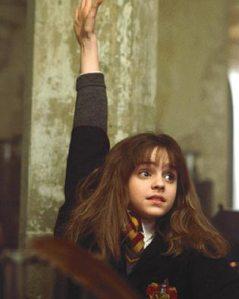 Hermione Grainger raised hand