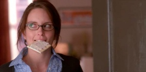 Liz Lemon eating a poptart