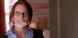 Liz Lemon eating a poptart