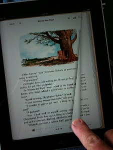 Turning a page on the iPad - the beginning to the end of the mouse as the primary ostension mechanism by Mike Baird