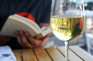 Book and Wine by QuinnDombrowski