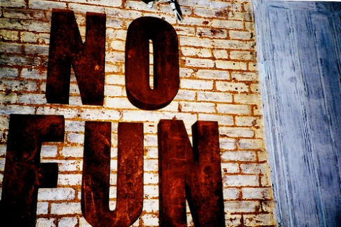 No Fun Sign