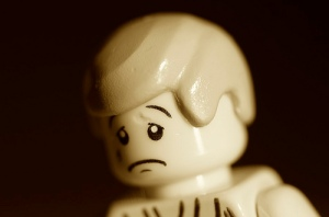 Sad Lego Man by Kalexanderson